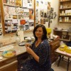 Kathleen in her studio