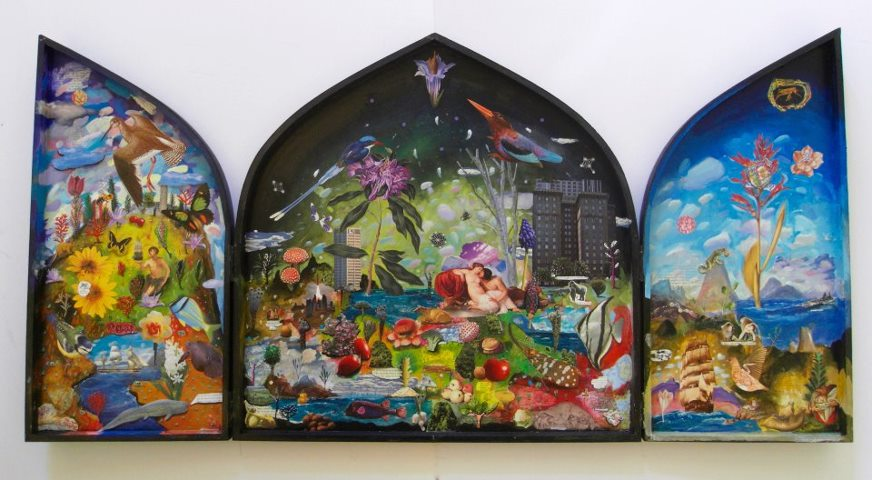 Paint & Collage: Large Triptych Box, by Gavin Lavelle
