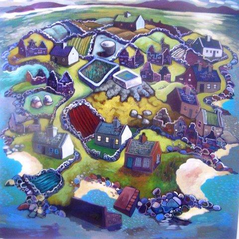 Painting: Inishlacken, by Rosie McGurran