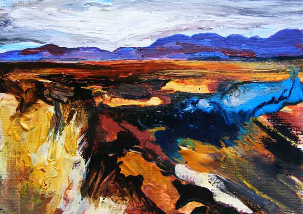 Painting of bog between Clifden and Roundstone
