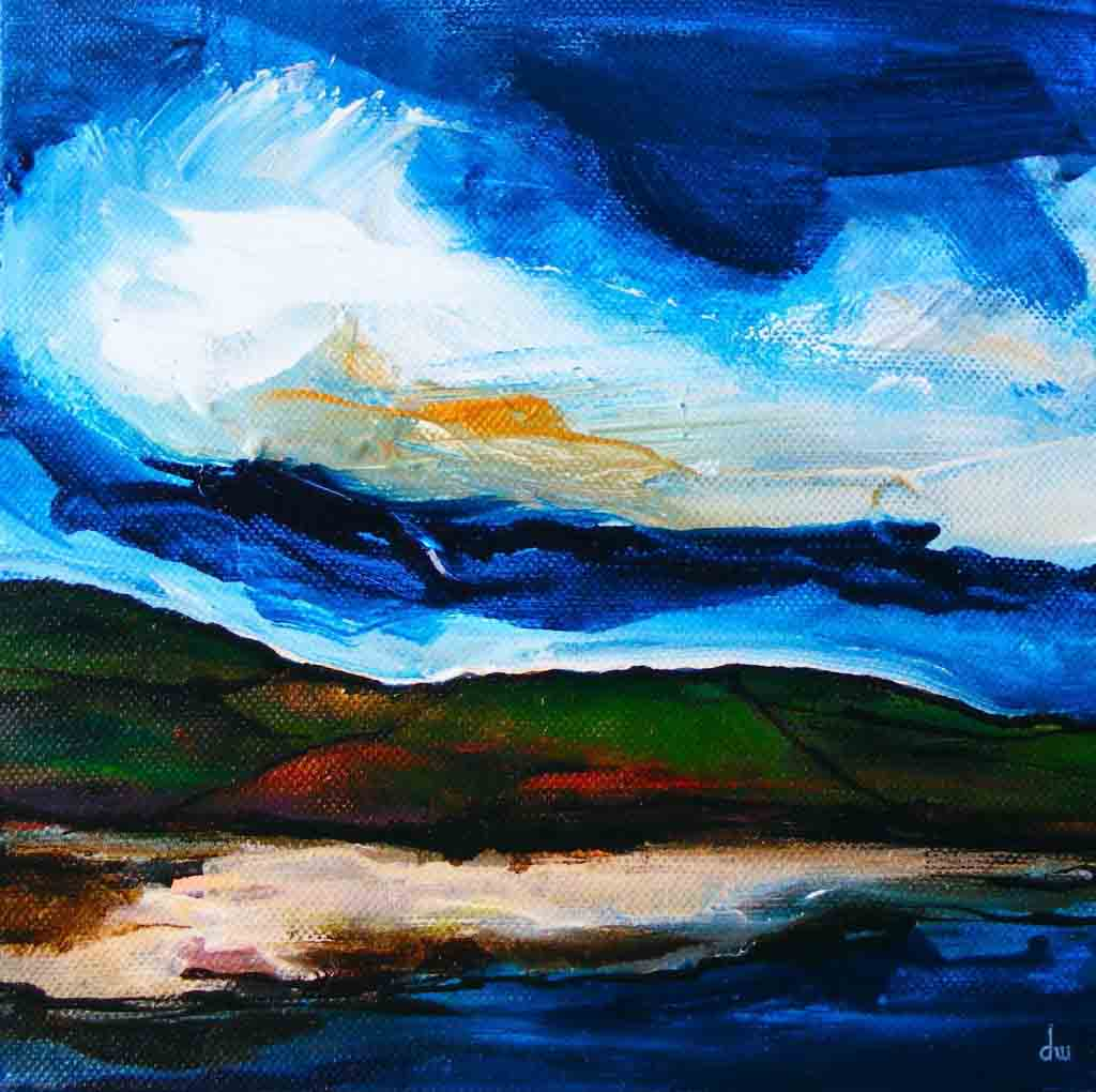 Cleggan coast painting
