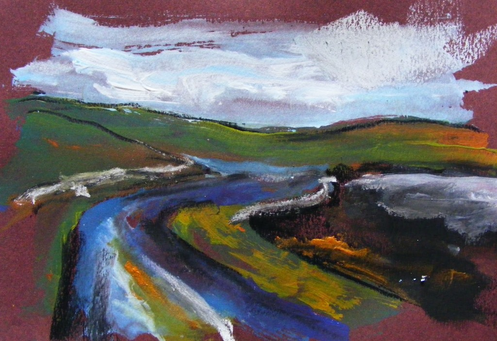 Painting: Claddaghduff landscape 1