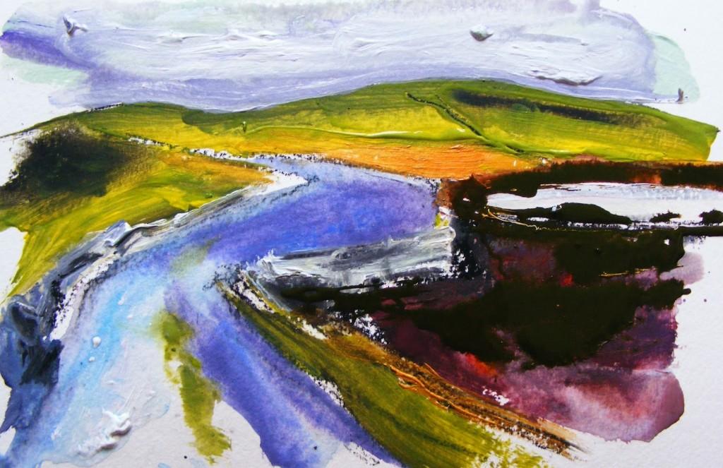 Painting: Claddaghduff landscape 2