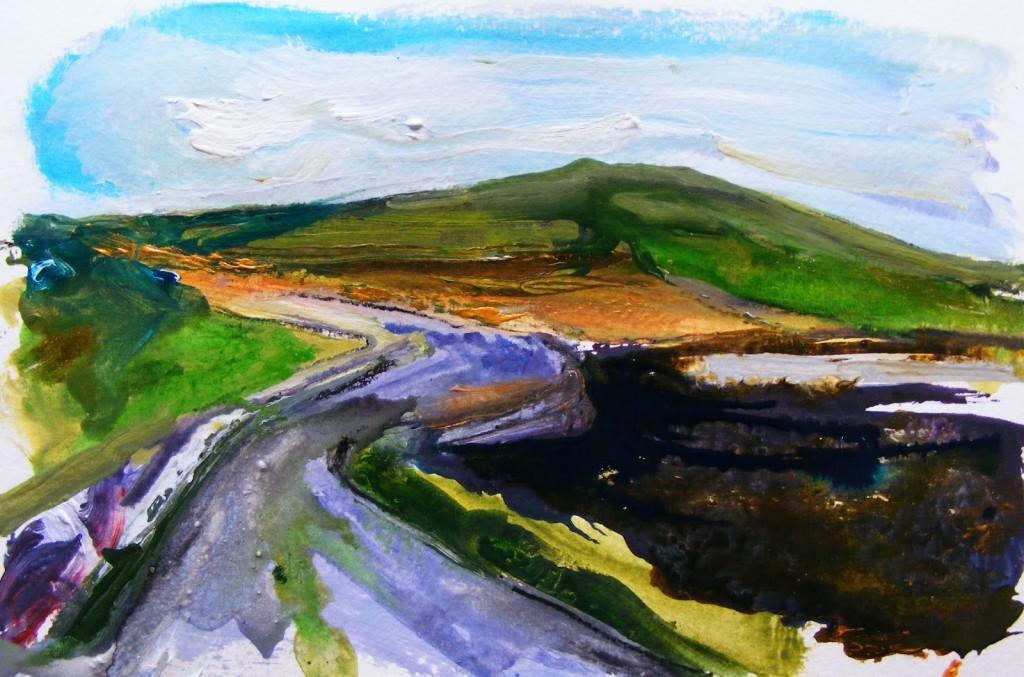 Painting: Claddaghduff landscape 3