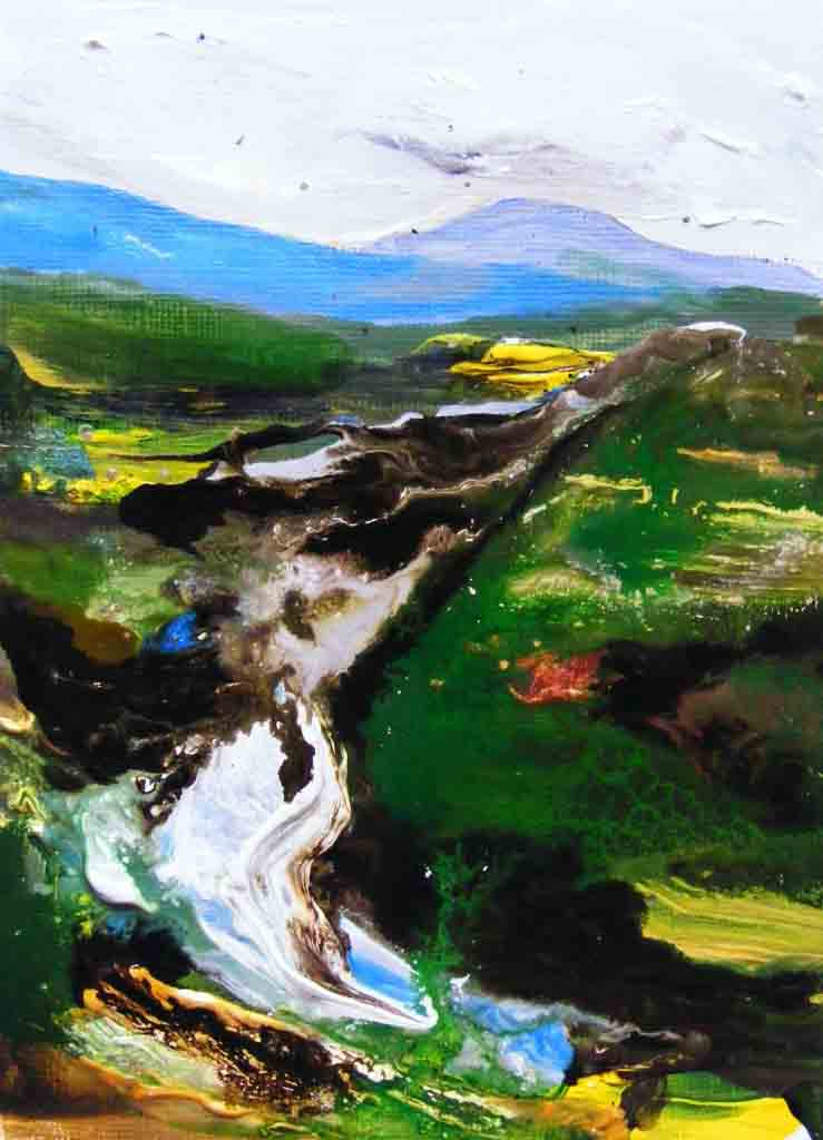 Bog Painting by Deborah Watkins