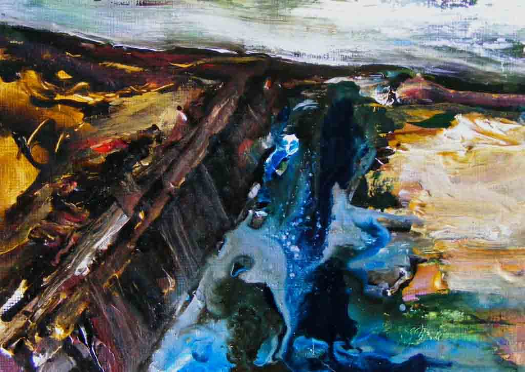 2nd bog painting, finished