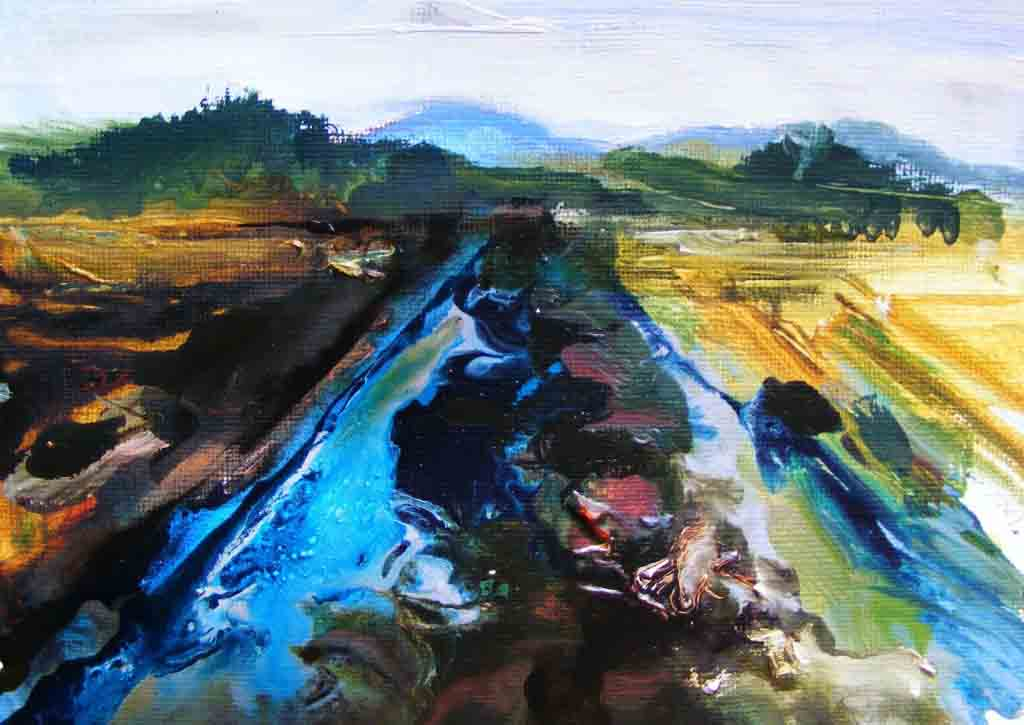Version 2 of Oughterard bog painting