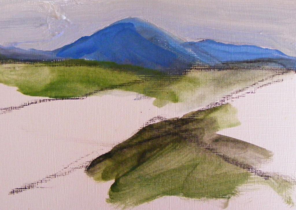 First stage of the next bog Painting by Deborah Watkins