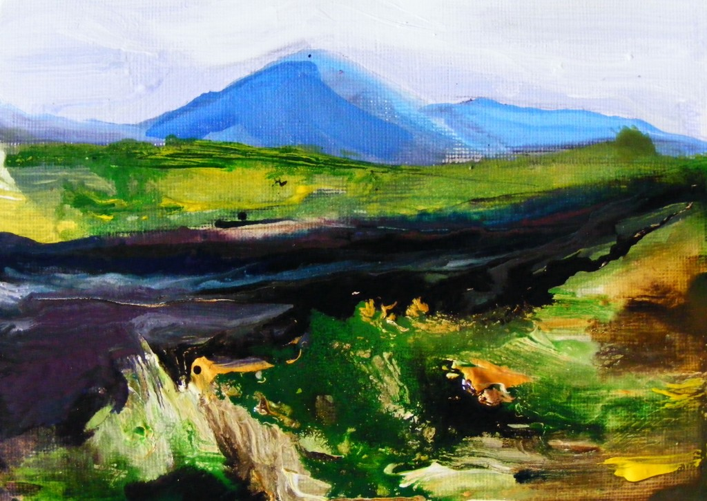 Next stage of Oughterard bog Painting
