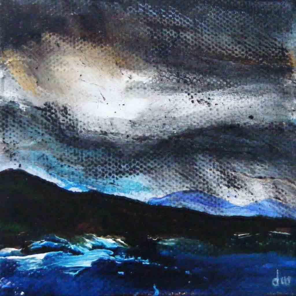 Painting of rain