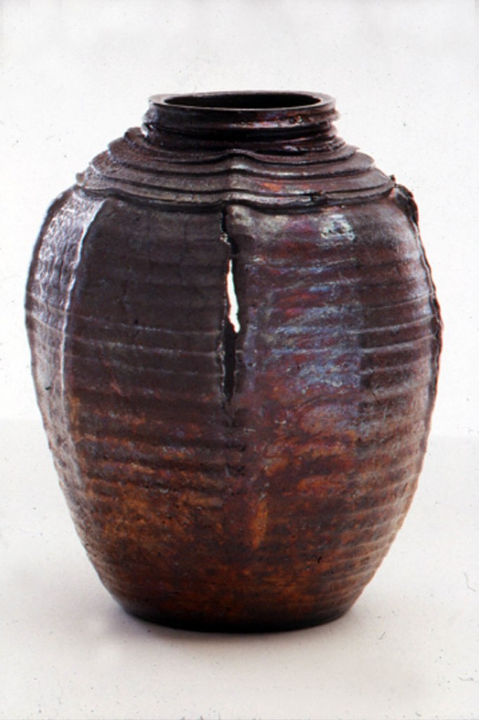 Raku pot by Deborah Watkins