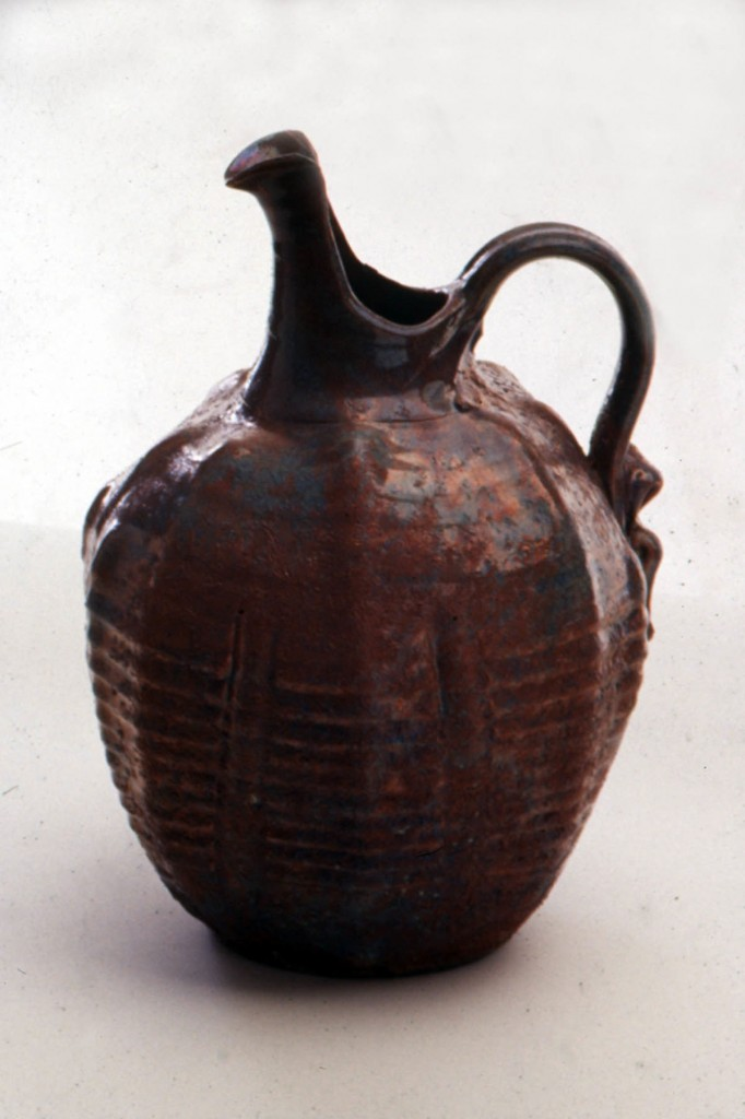 Photograph of raku pot by Deborah Watkins