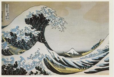 Print: The Waves at Kanagawa, by Hokusai