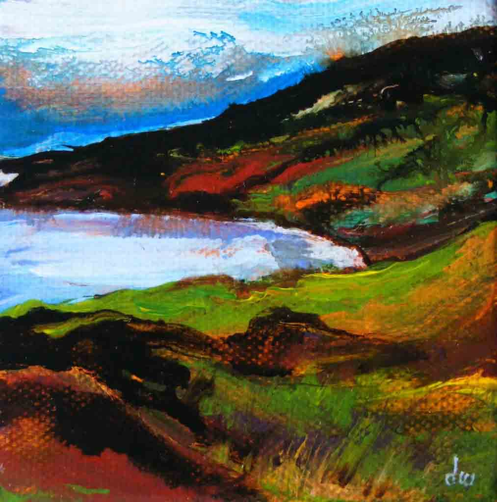 Painting of Clifden bay