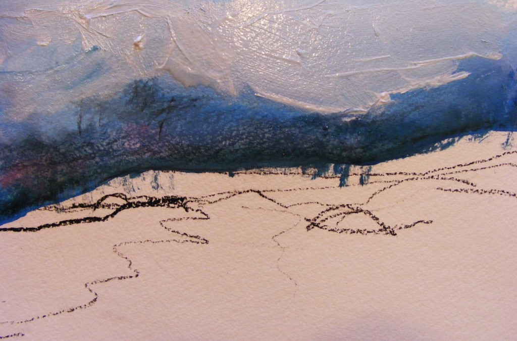Beach Painting, stage 2