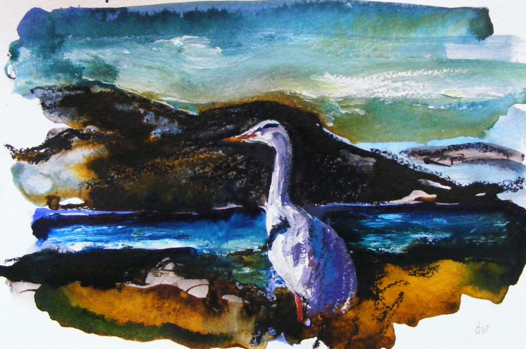 Painting of Heron, Stage 2