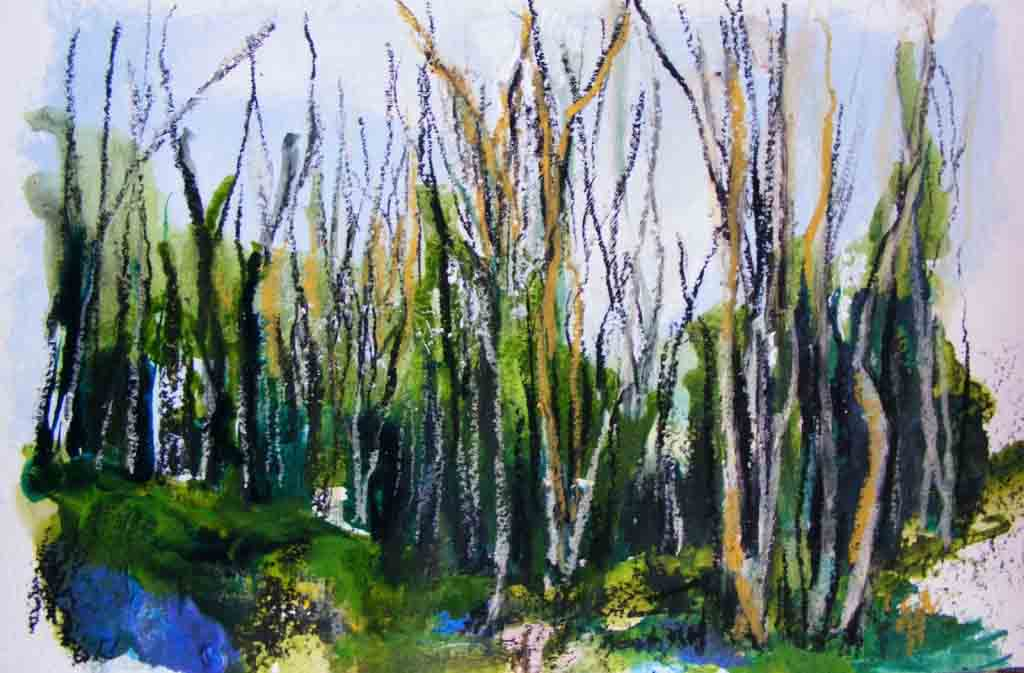 Woodland painting 1