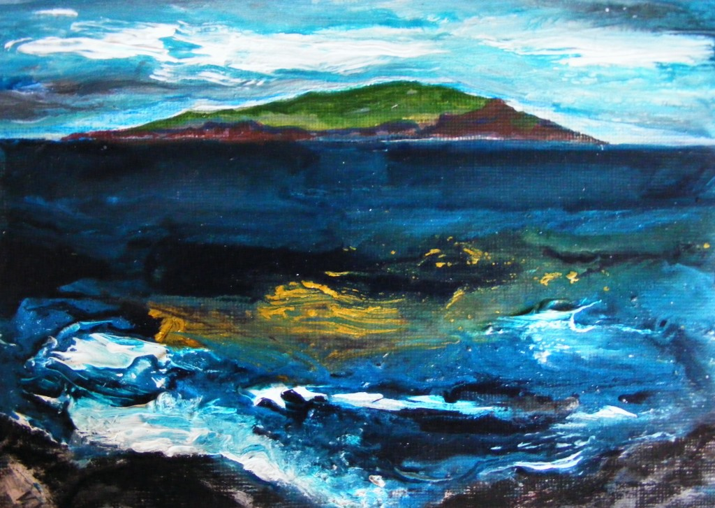 Finished seascape by Deborah Watkins