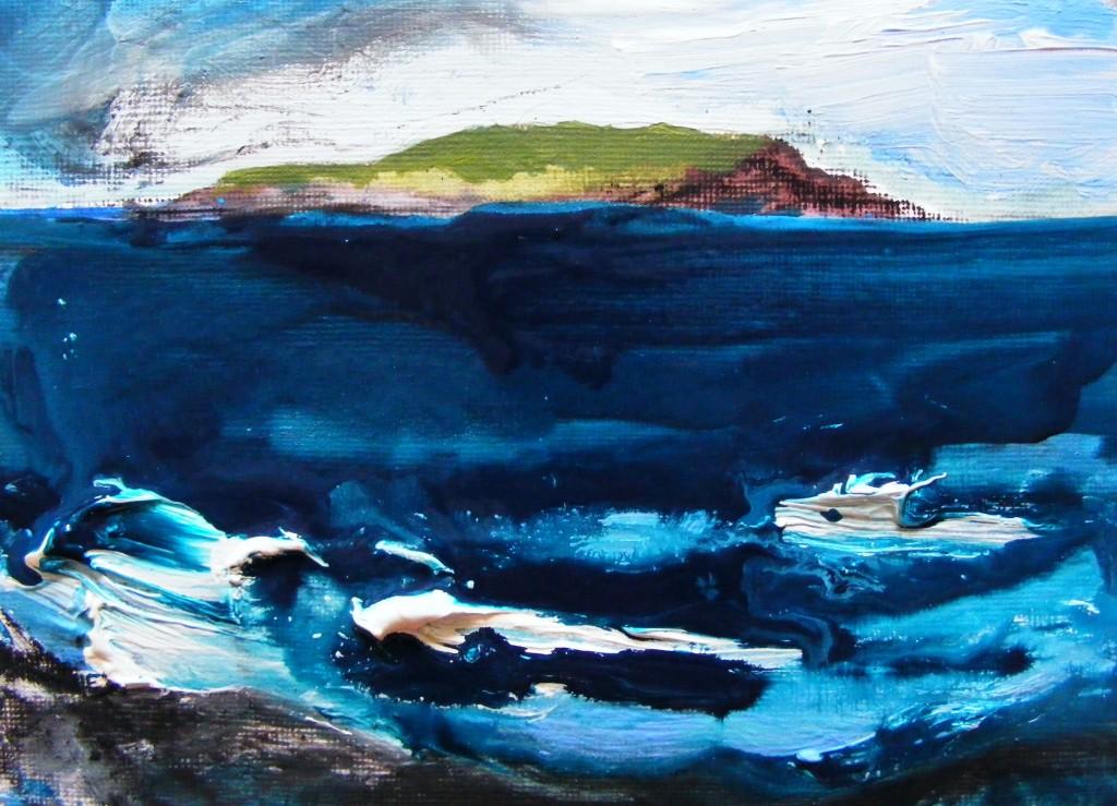Seascape by Deborah Watkins - third stage