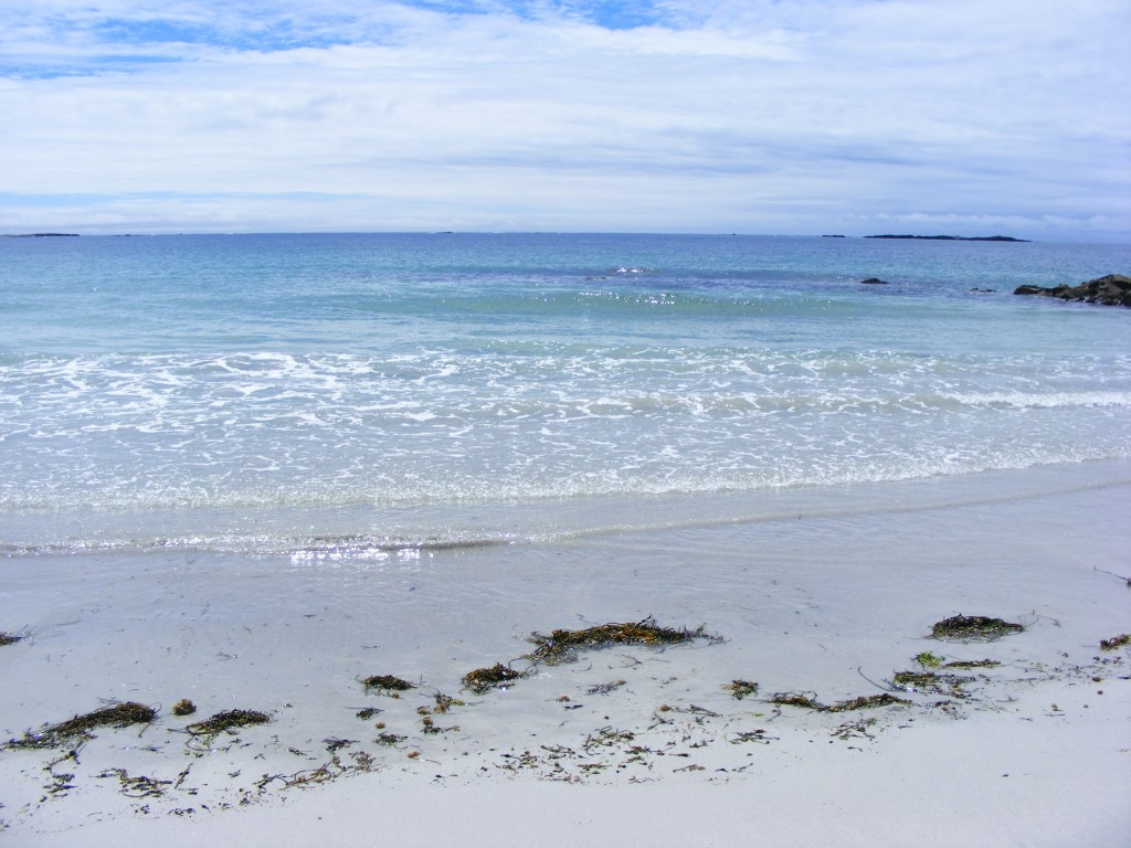 The sea at Aillebrack beach