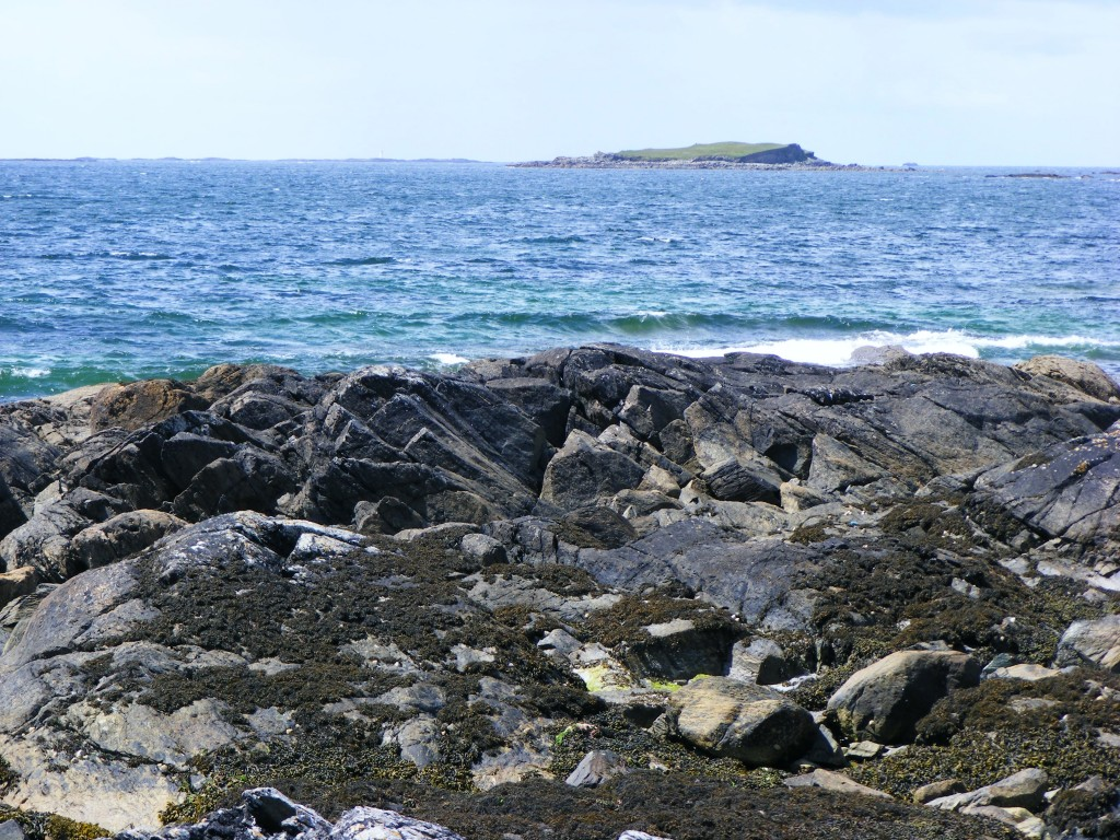 Photograph of the sea taken from Candoolin, Errislannan