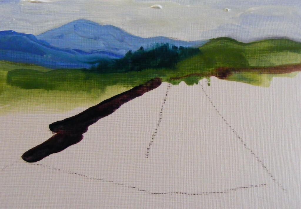 Landscape sketch by Deborah Watkins