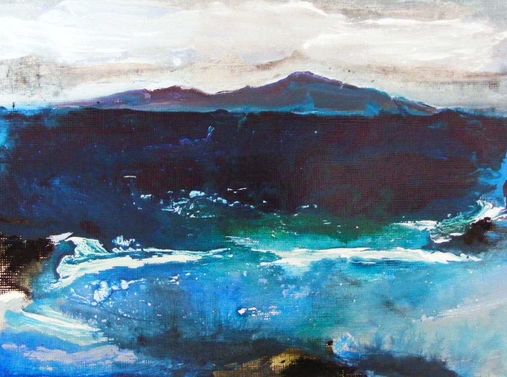 seascape - paint dry