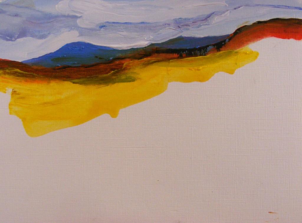 First stage of Bog Painting by Deborah Watkins