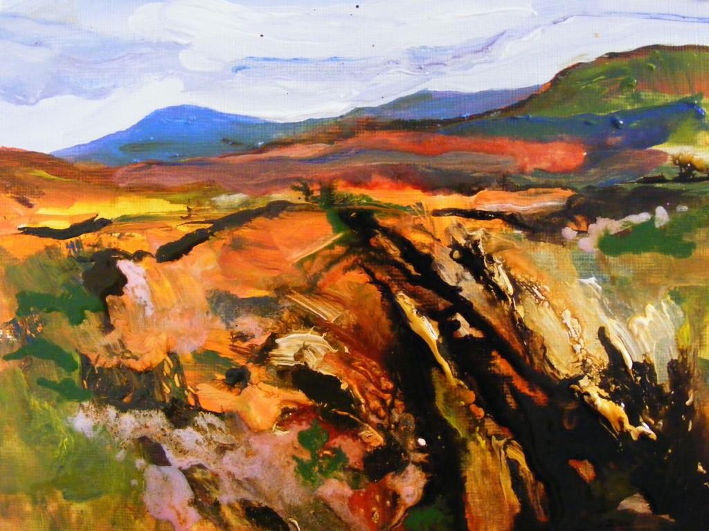 Third stage of Bog Painting by Deborah Watkins