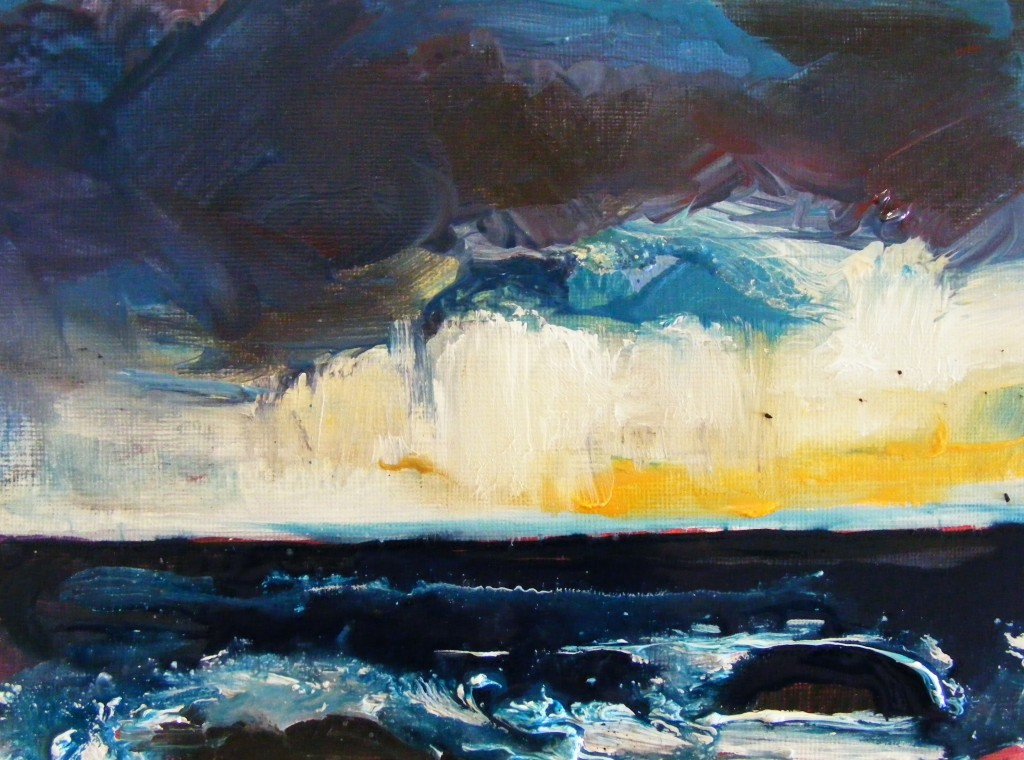 Second stage of seascape by Deborah Watkins