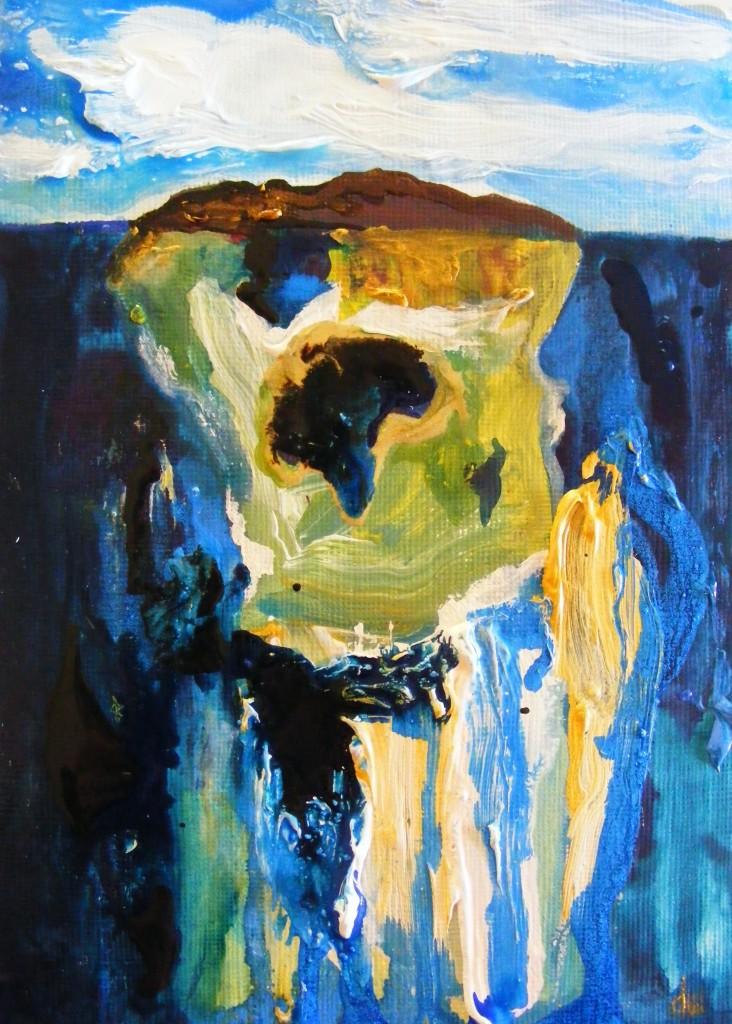 Finished Island Painting by Deborah Watkins