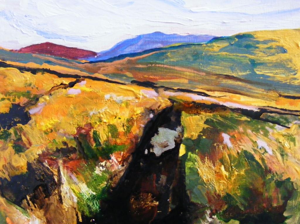 Penultimate stage of bog painting