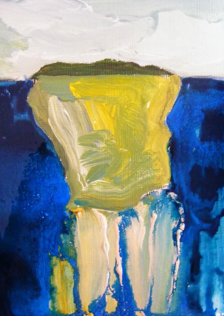 Second stage - Island painting by Deborah Watkins