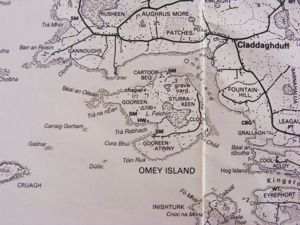 Photograph of map by Tim Robinson