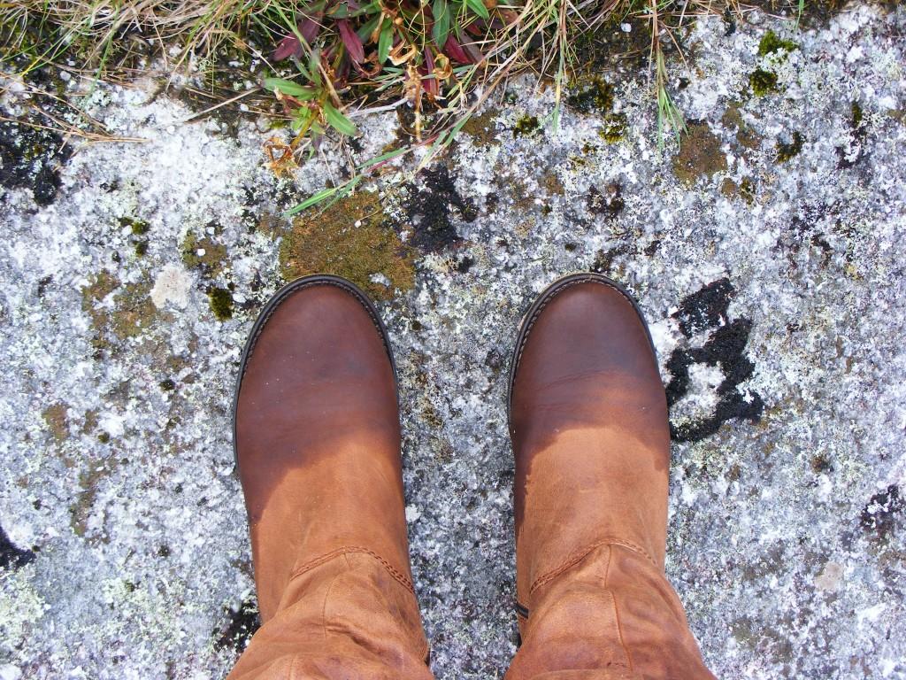Wet boots by Deborah Watkins