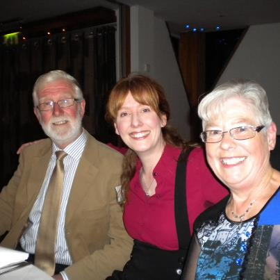 Me with my parents at the Irish Blog Awards 2012