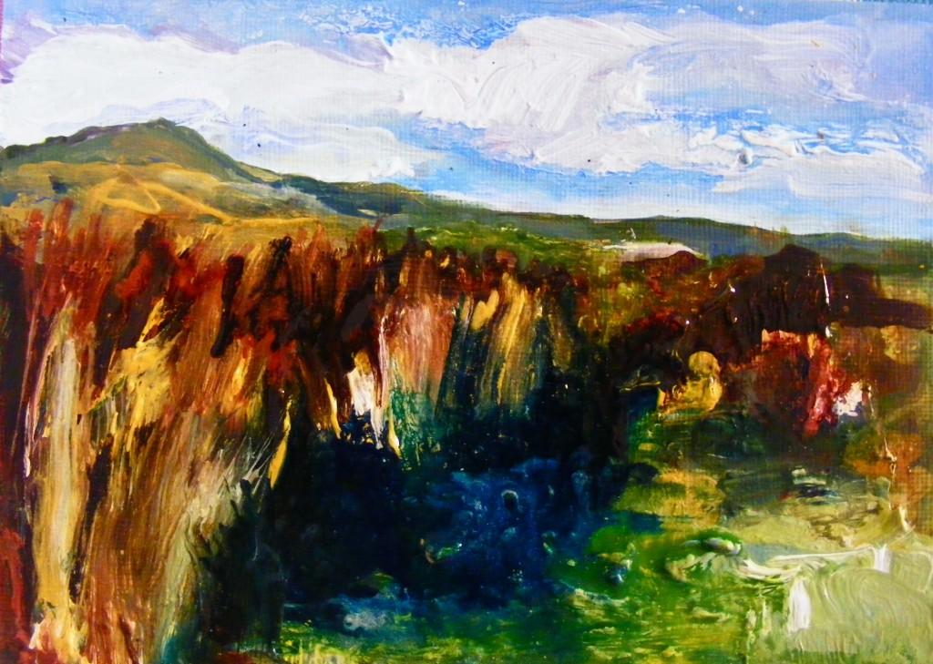 Last stage of Miry place painting by Deborah Watkins