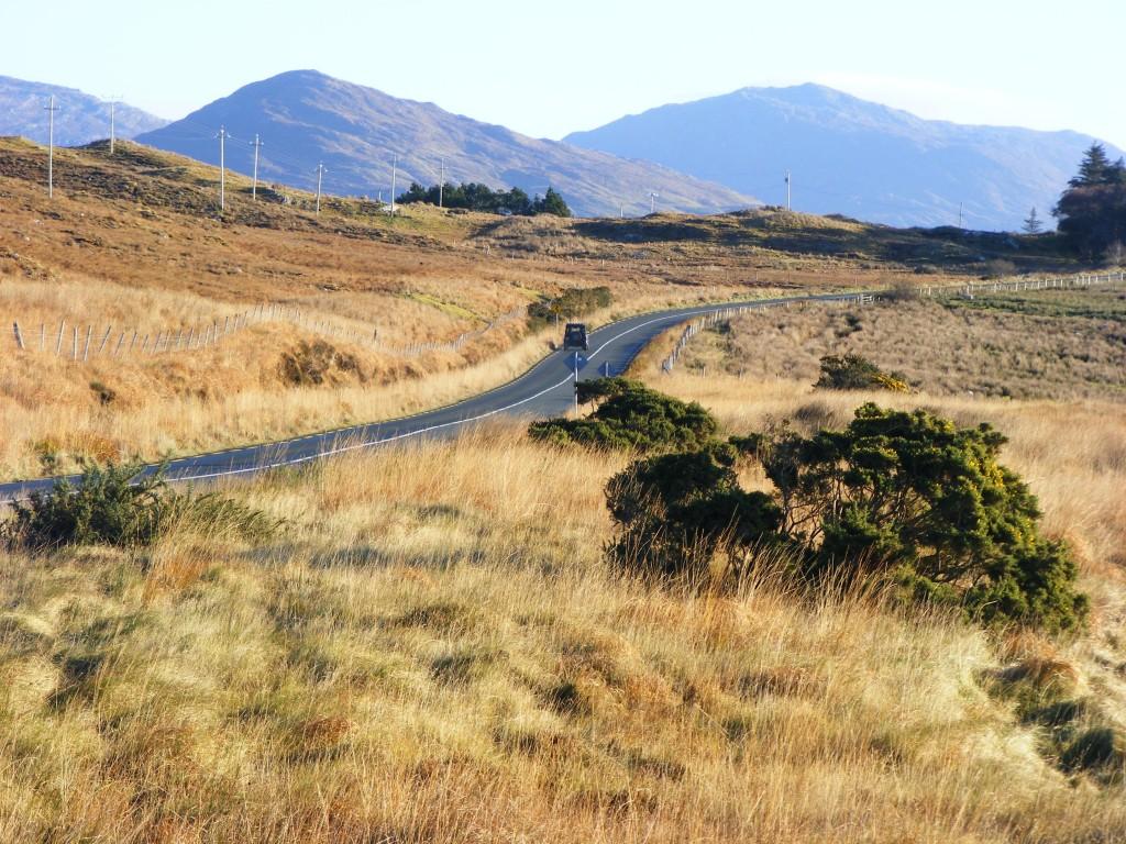 The N59 Road towards Galway