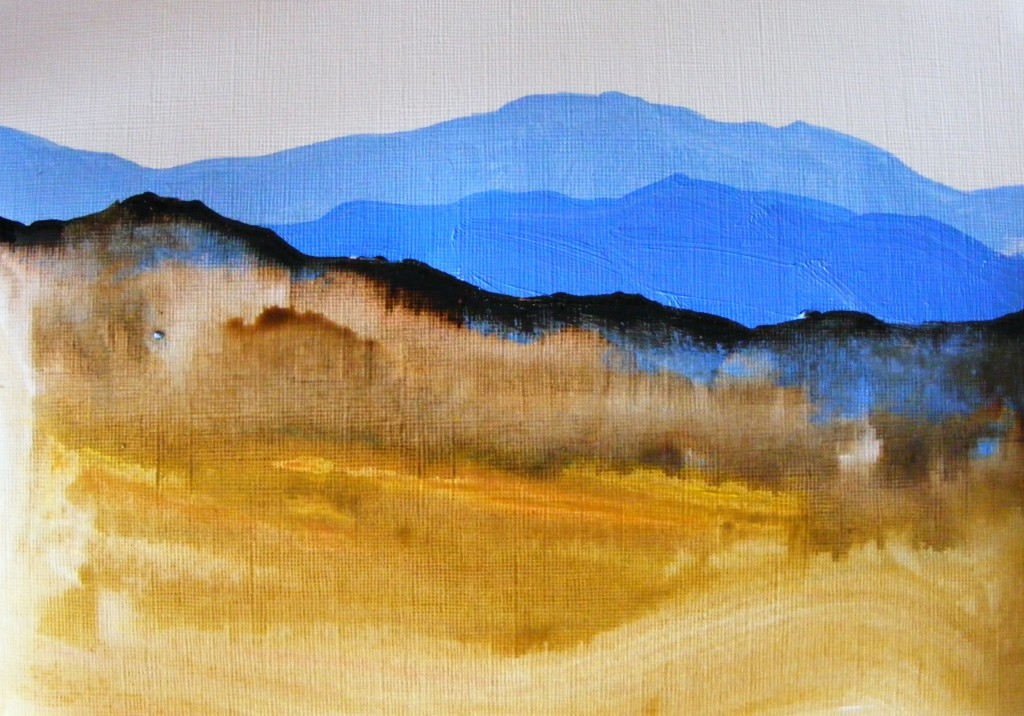 Second stage of November bog painting