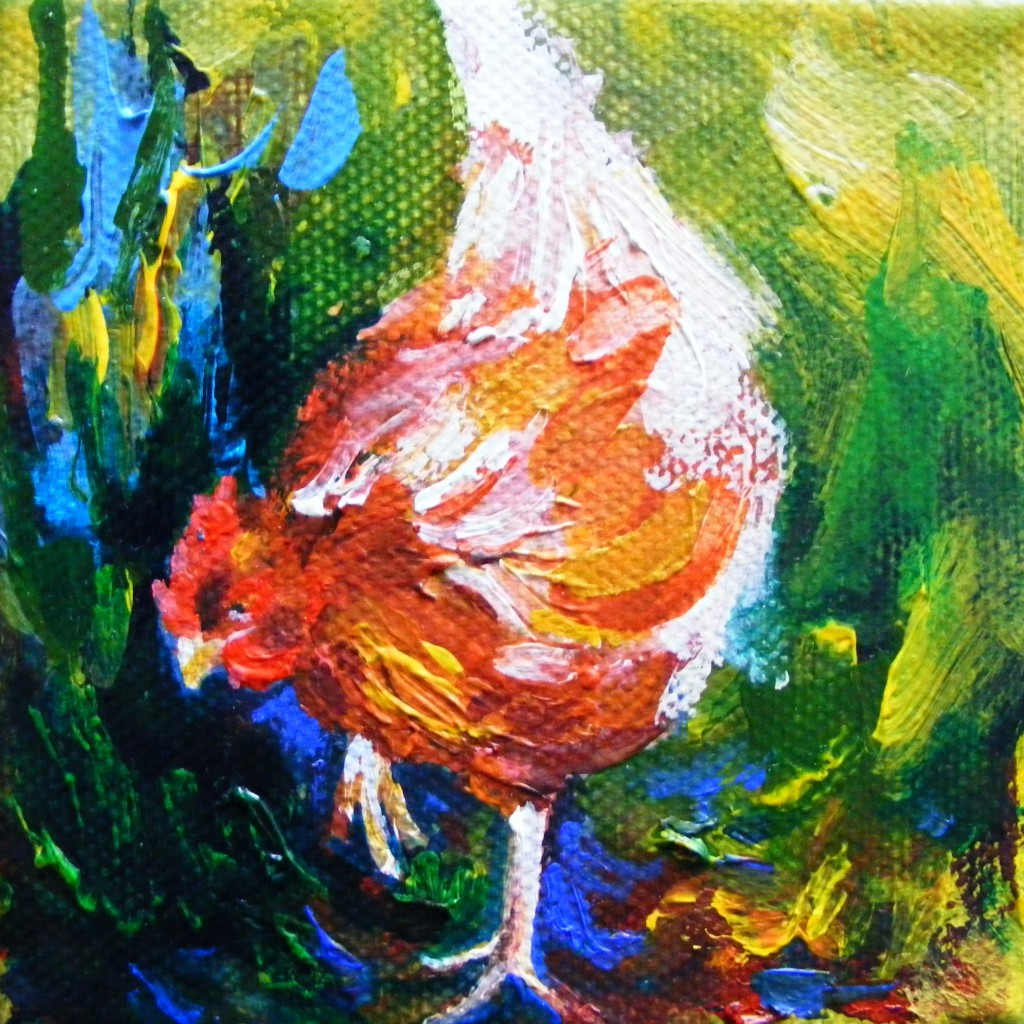 Second hen painting - finished