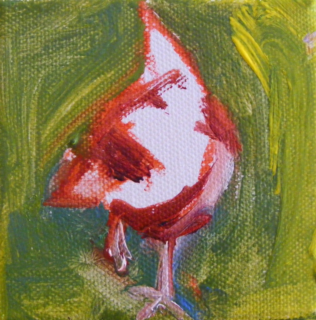 Second hen painting - first stage