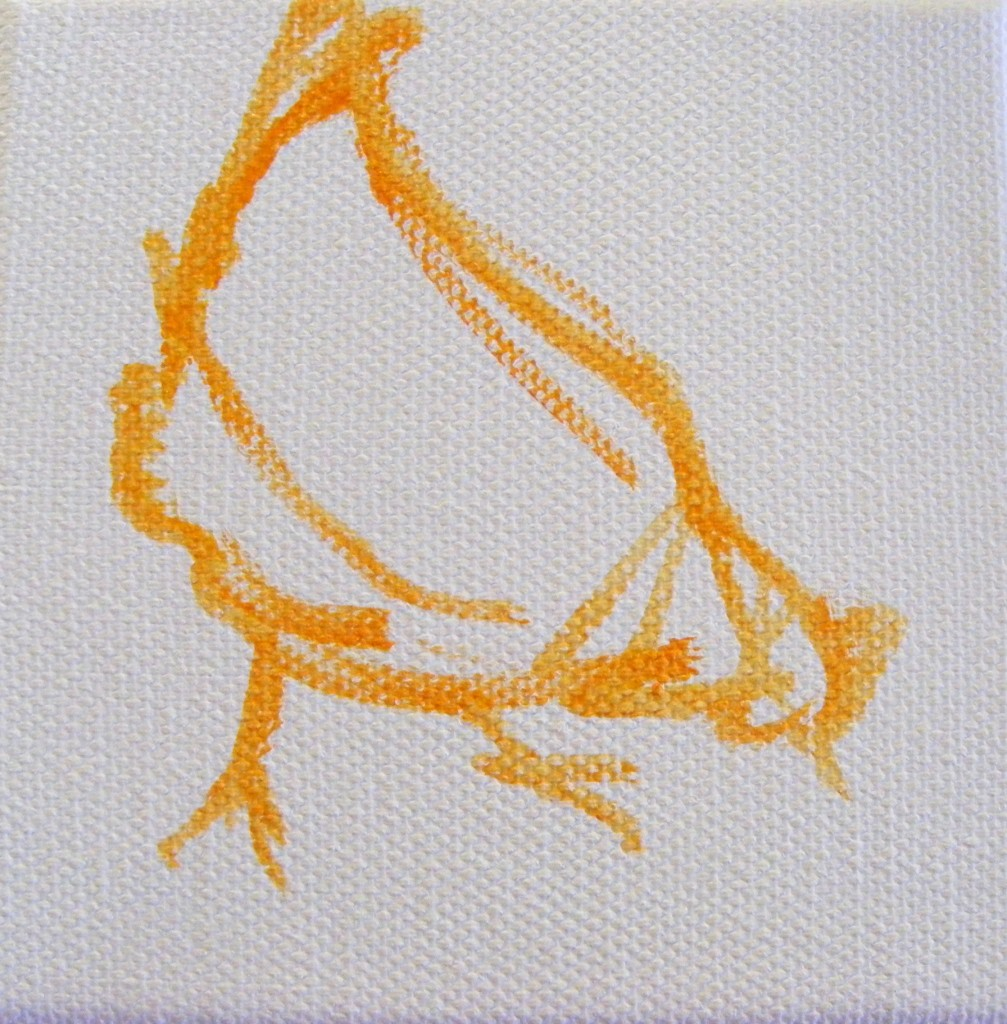 First stage of hen painting