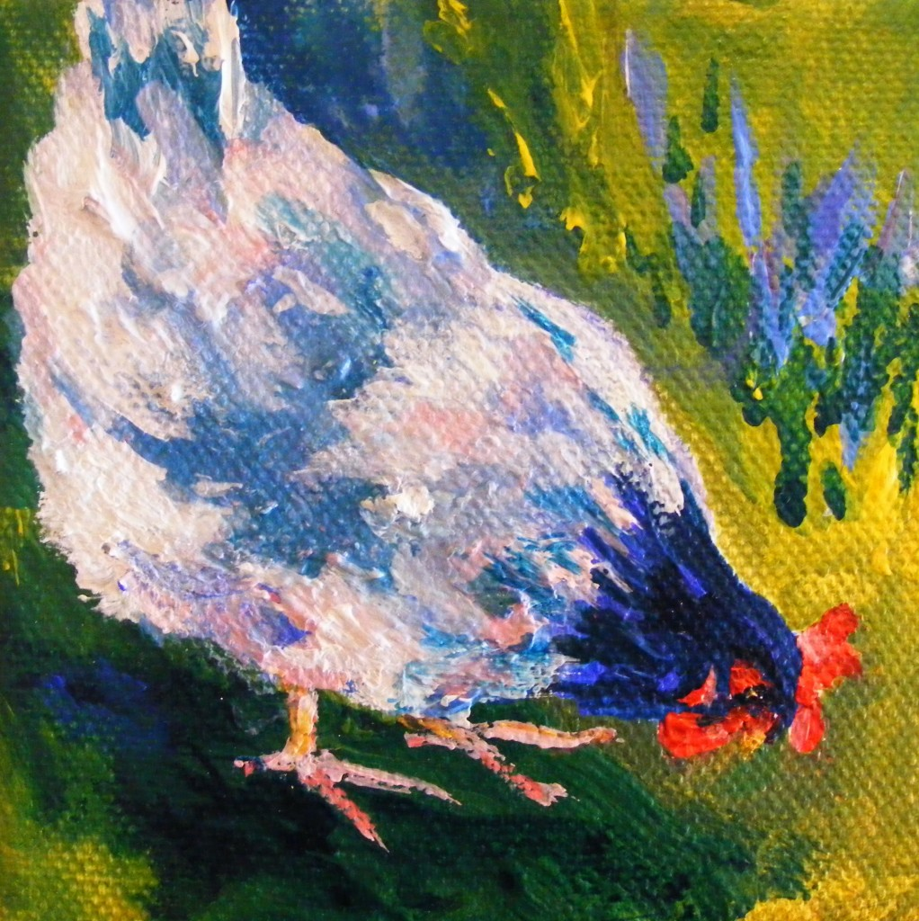 Third hen painting - finished