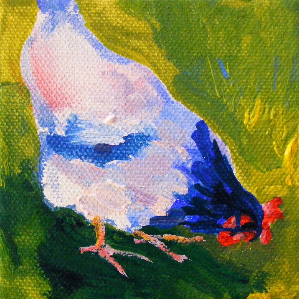 Third hen painting - second stage