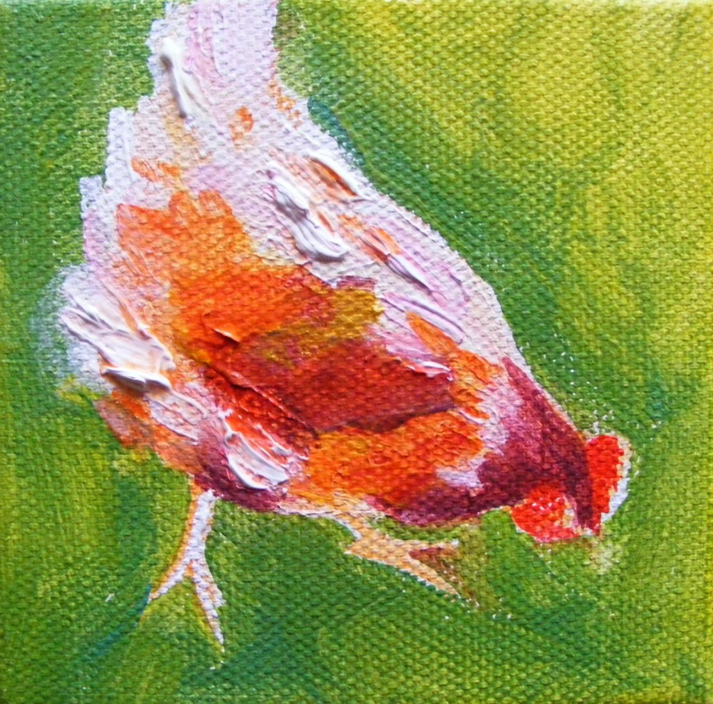 Third stage of hen painting