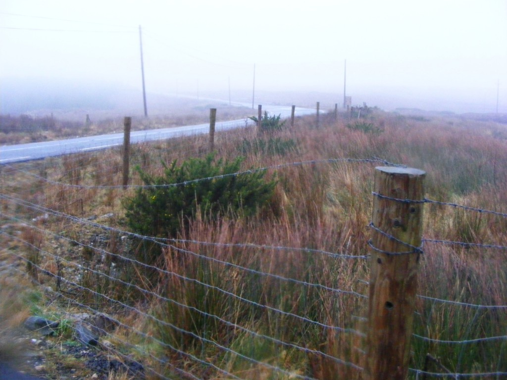 Fence on rainy day in Connemara