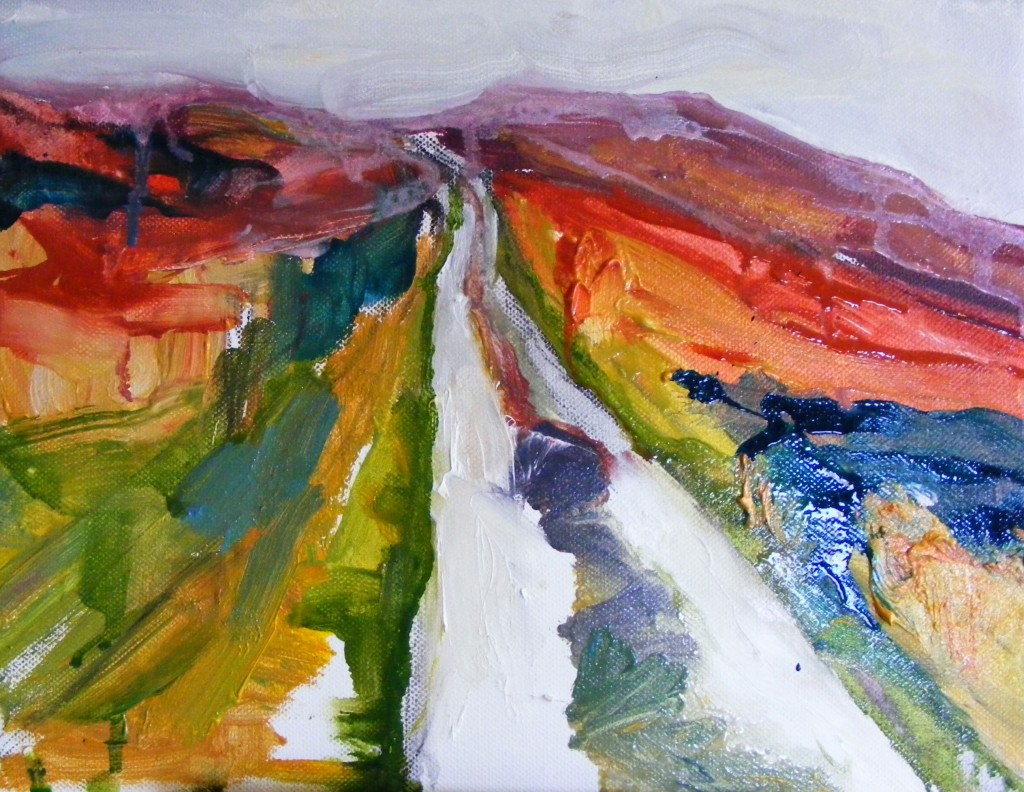 The same landscape with more paint added