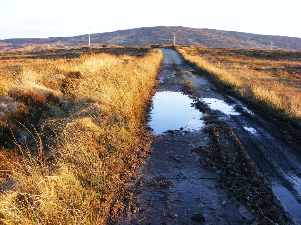 Road with pot holes