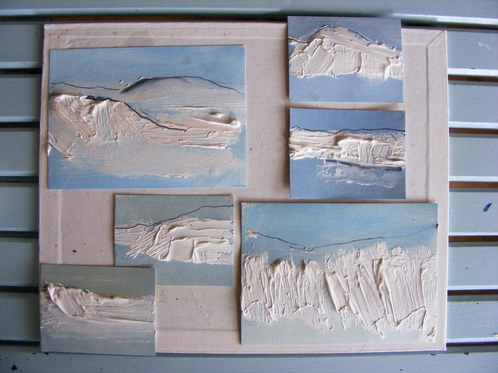 Stage two of island paintings