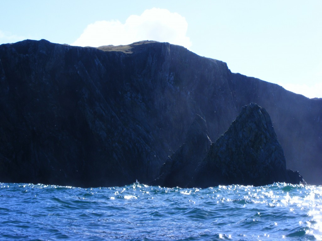 Cliffs at Inishturk from the sea